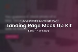 Landing Page Mock Up Kit
