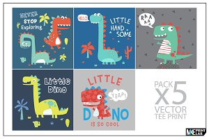 LITTLE DINO BABY PRINT VECTOR PACK
