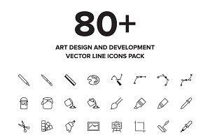 Art Design and Development Icons