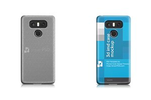 LG G6 3d IMD Phone Case Mockup