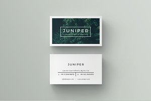 Business card templates creative market j u n i p e r business card template wajeb Image collections