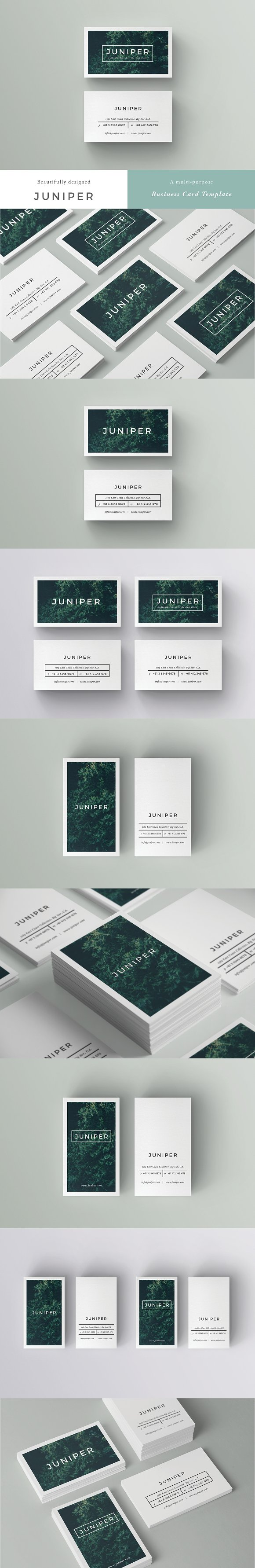 20 clean and minimal business cards that stand out creative market juniper business card template colourmoves