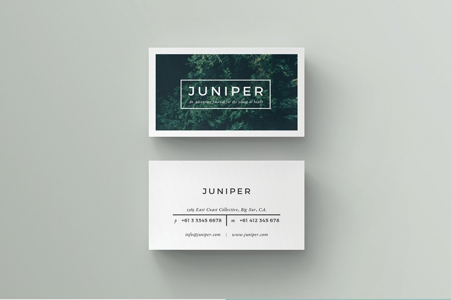 J U N I P E R Business Card Template