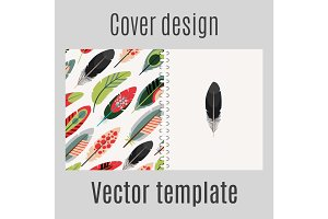 Cover design with feathers pattern