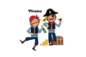 Two pirates icons