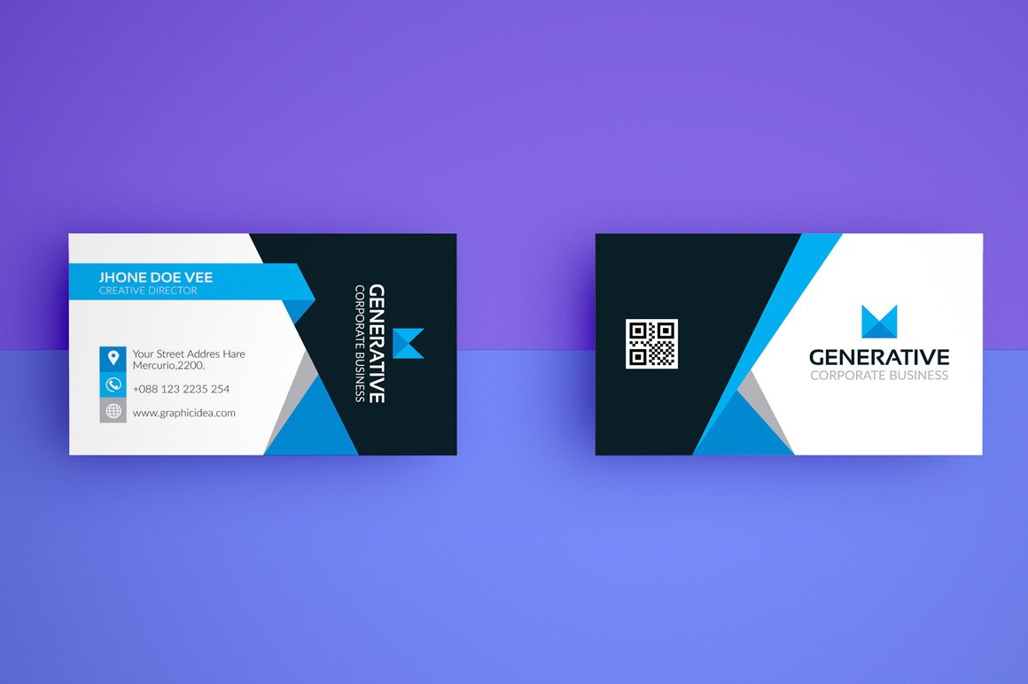 Business card template vol04 business card templates for Photo business card template