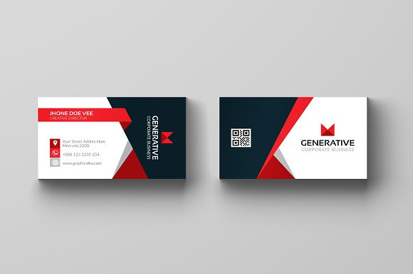 Business card template vol04 business card templates creative business card template vol04 business card templates creative market accmission Choice Image