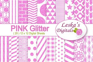 Pink Glitter Digital Paper