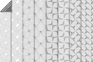 Linear geometrical seamless patterns