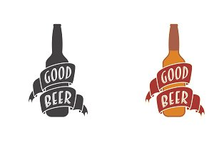 Good beer vector logo