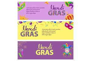 Mardi Gras. Carnival Invitation Poster Illustration