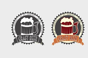 Bar or pub logo, badge or label
