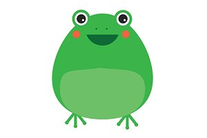 Cute frog icon. eps + jpg