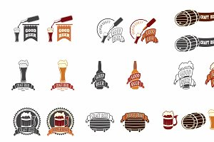 Set of craft beer vintage labels