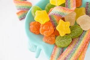 Candy background. Colorful candies