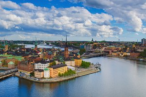 View of Stockholm from above