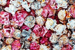 Popcorn glamor glitter background