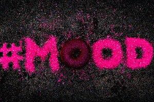 Glitter Text Sweet Mood Minimal