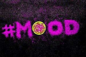 Glitter Text Shining Mood