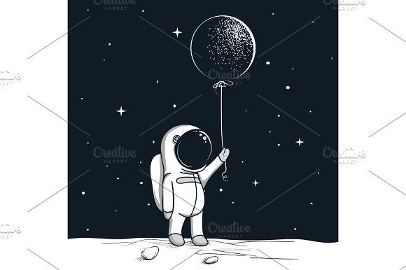 Adventure Astronaut On The Moon