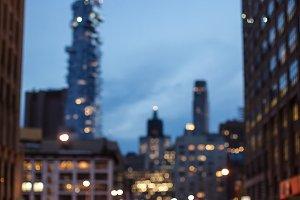Blurred driveway in Manhattan