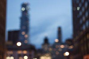 Blurred driveway in New York