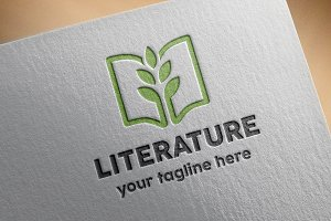 Literature Logo Template