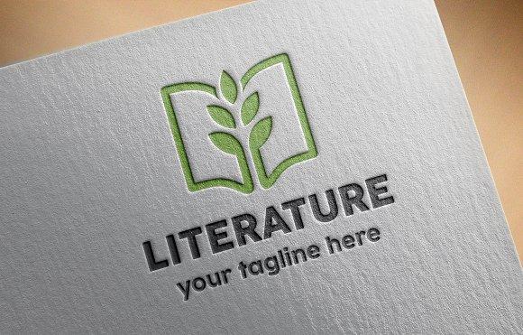 Literature Logo Template ~ Logo Templates ~ Creative Market