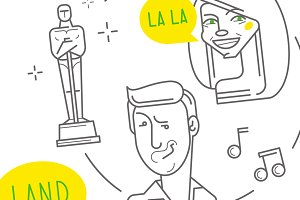 Oscar ceremony scene