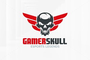 Gamer Skull Logo Template