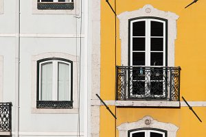 White and Yellow Facade