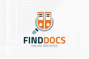 Find Documents Logo Template