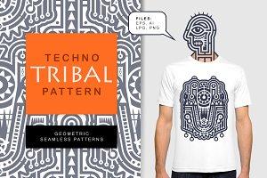 Modern Techno Tribal Pattern