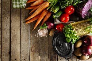 Healthy Food Vegetarian Concept