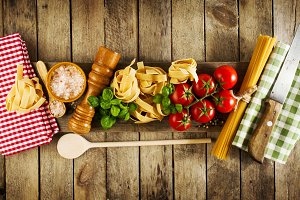 Healthy Veggie Italian Food Concept