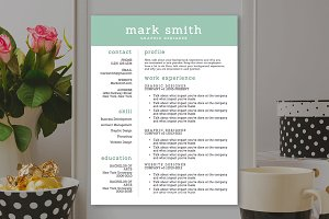 Green Resume Template - MS Word
