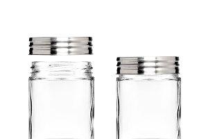 Clear Mason Jar with Metal Lid