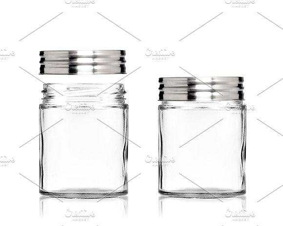 Clear Mason Jar With Metal Lid