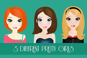 3 Different Pretty Girls