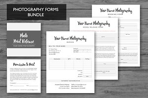 Photography Forms Templates Bundle