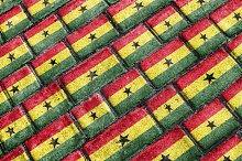Ghana Flag Urban Grunge Pattern
