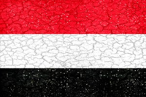 Yemen Grunge Style Flag