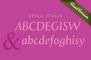 Styla Bold Italic