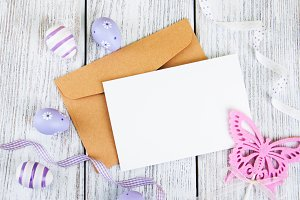 Blank greeting easter card