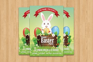 Easter Egg Hunt Party Flyer-V504