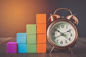 building blocks and alarm