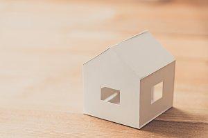 white paper house model