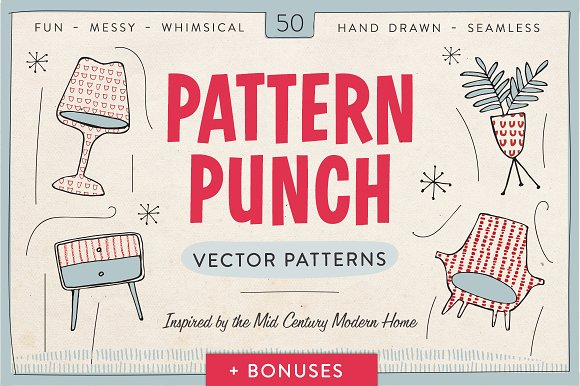 Pattern Punch 50 Vector Patterns