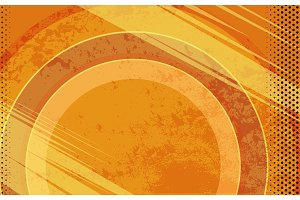 Vector Comic Book Orange Grunge Background. Illustration with Halftone Dots