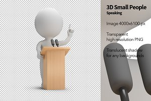 3D Small People - Speaking